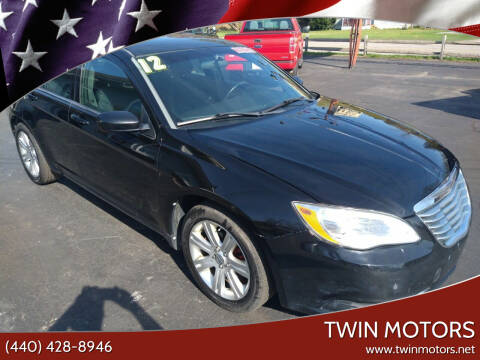 2012 Chrysler 200 for sale at TWIN MOTORS in Madison OH