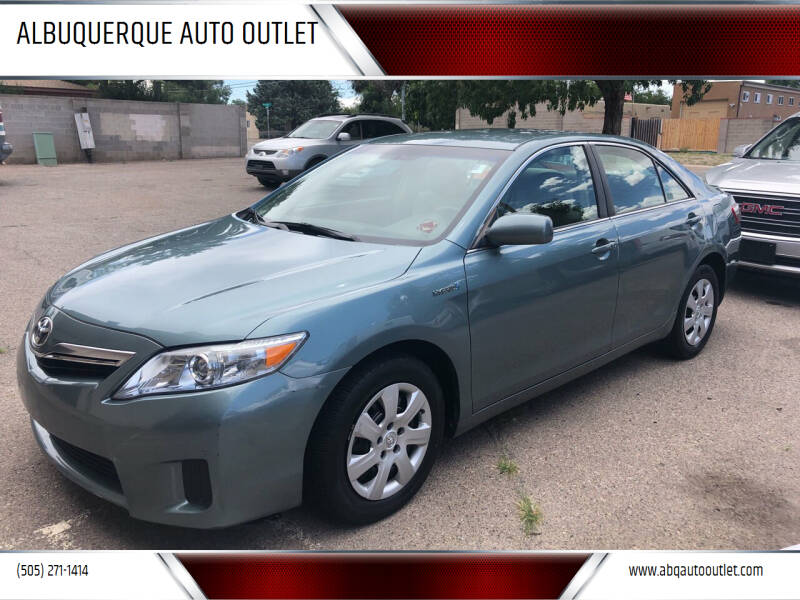 2010 Toyota Camry Hybrid for sale at ALBUQUERQUE AUTO OUTLET in Albuquerque NM