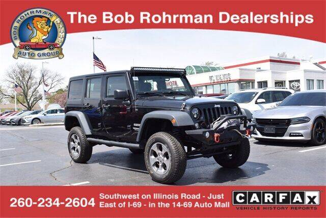 2014 Jeep Wrangler Unlimited for sale at BOB ROHRMAN FORT WAYNE TOYOTA in Fort Wayne IN