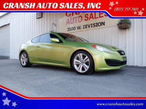 2010 Hyundai Genesis Coupe for sale at CRANSH AUTO SALES, INC in Arlington TX