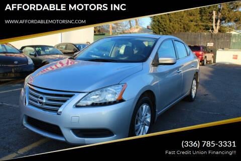 2015 Nissan Sentra for sale at AFFORDABLE MOTORS INC in Winston Salem NC