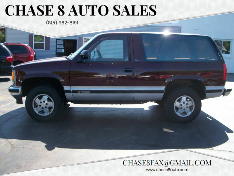 1992 Chevrolet Blazer for sale at Chase 8 Auto Sales in Loves Park IL
