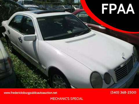1997 Mercedes-Benz E-Class for sale at FPAA in Fredericksburg VA