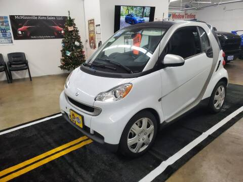 2012 Smart fortwo for sale at McMinnville Auto Sales LLC in Mcminnville OR
