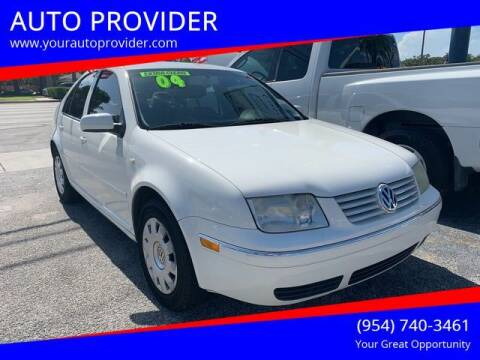 2004 Volkswagen Jetta for sale at AUTO PROVIDER in Fort Lauderdale FL