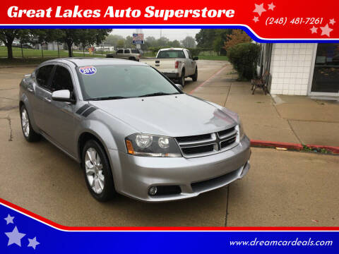 2014 Dodge Avenger for sale at Great Lakes Auto Superstore in Pontiac MI