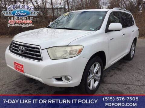2009 Toyota Highlander for sale at Fort Dodge Ford Lincoln Toyota in Fort Dodge IA