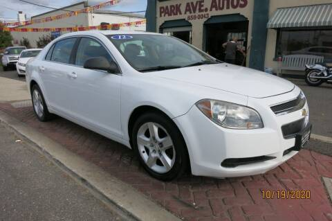 2012 Chevrolet Malibu for sale at PARK AVENUE AUTOS in Collingswood NJ