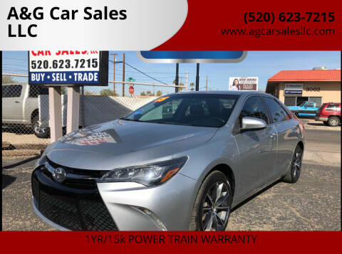 2015 Toyota Camry for sale at A&G Car Sales  LLC in Tucson AZ
