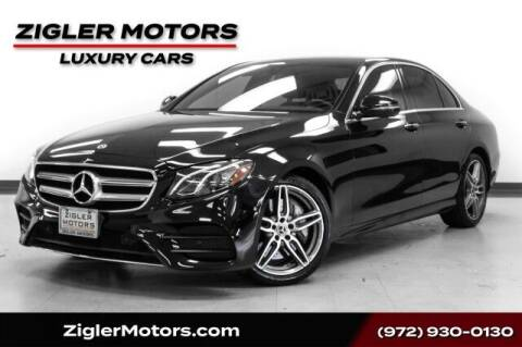 2018 Mercedes-Benz E-Class for sale at Zigler Motors in Addison TX