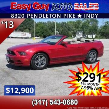 2013 Ford Mustang for sale at Easy Guy Auto Sales in Indianapolis IN
