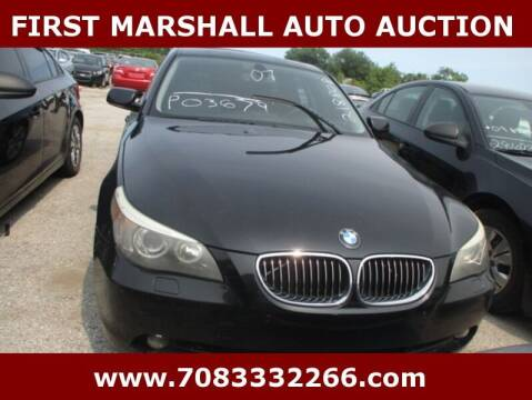 2007 BMW 5 Series for sale at First Marshall Auto Auction in Harvey IL