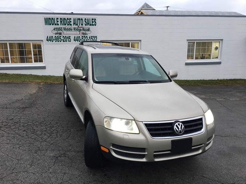 2004 Volkswagen Touareg for sale at Middle Ridge Auto Sales in Amherst OH