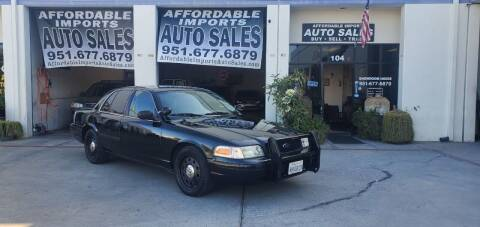 2009 Ford Crown Victoria for sale at Affordable Imports Auto Sales in Murrieta CA