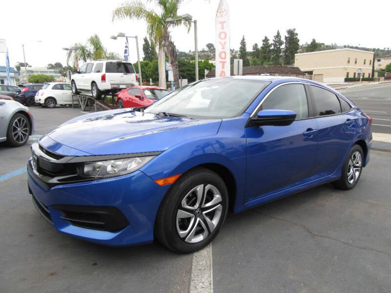 2016 Honda Civic for sale at Eagle Auto in La Mesa CA