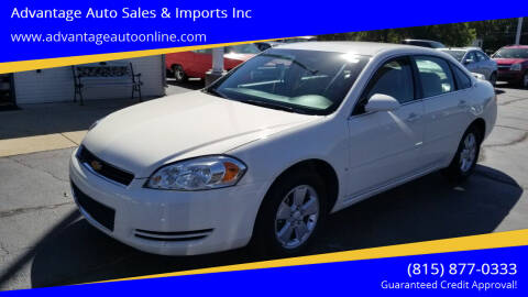 2008 Chevrolet Impala for sale at Advantage Auto Sales & Imports Inc in Loves Park IL