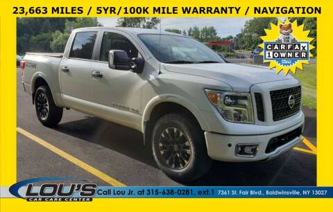 2018 Nissan Titan for sale at LOU'S CAR CARE CENTER in Baldwinsville NY