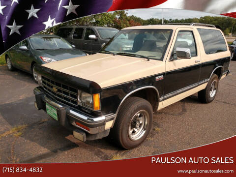 1986 Chevrolet S-10 Blazer for sale at Paulson Auto Sales in Chippewa Falls WI