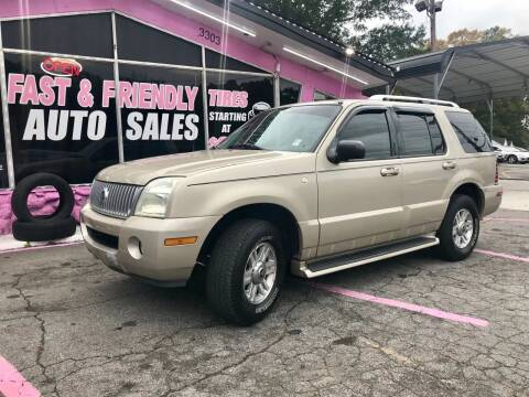 2004 Mercury Mountaineer for sale at Fast and Friendly Auto Sales LLC in Decatur GA