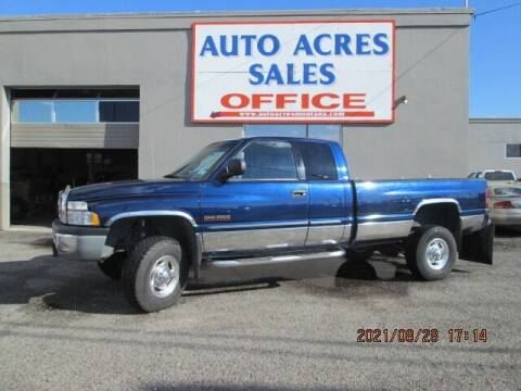 2002 Dodge Ram Pickup 2500 for sale at Auto Acres in Billings MT
