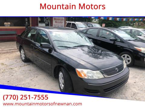 2001 Toyota Avalon for sale at Mountain Motors in Newnan GA