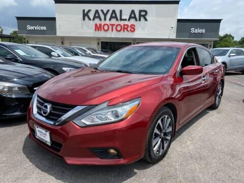 2016 Nissan Altima for sale at KAYALAR MOTORS in Houston TX