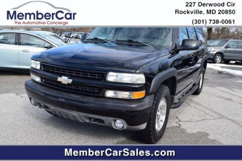 2004 Chevrolet Suburban for sale at MemberCar in Rockville MD