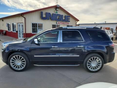 "2016 GMC Acadia for sale at UNIQUE AUTOMOTIVE ""BE UNIQUE"" in Garden City KS"