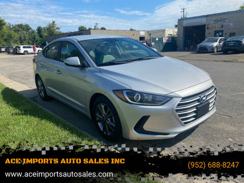 2017 Hyundai Elantra for sale at ACE IMPORTS AUTO SALES INC in Hopkins MN