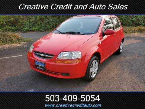 2006 Chevrolet Aveo for sale at Creative Credit & Auto Sales in Salem OR