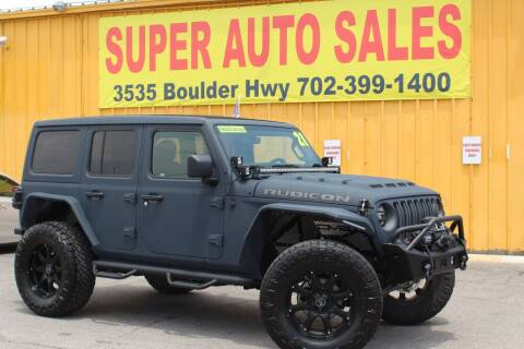 2021 Jeep Wrangler Unlimited for sale at Super Auto Sales in Las Vegas NV