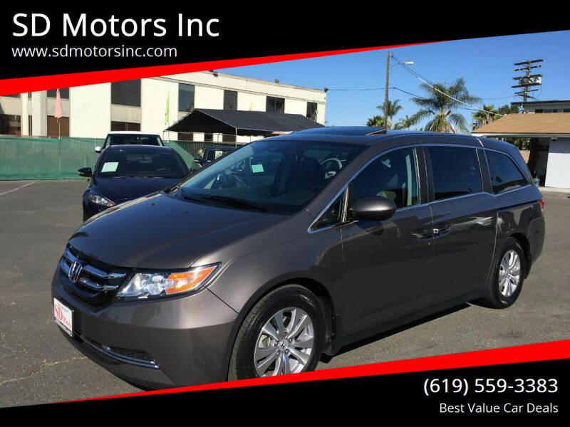 2014 Honda Odyssey for sale at SD Motors Inc in La Mesa CA
