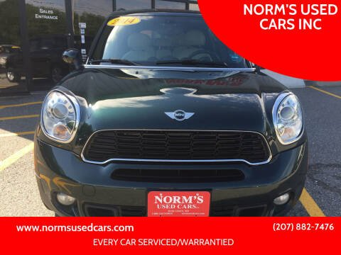 2014 MINI Countryman for sale at NORM'S USED CARS INC in Wiscasset ME