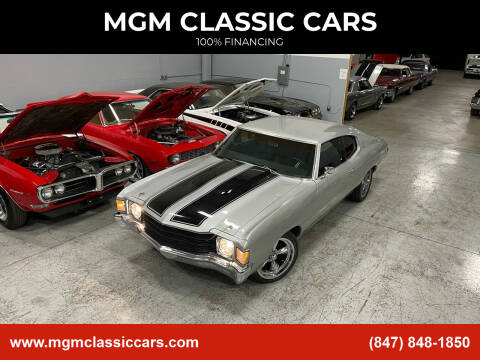 1972 Chevrolet Chevelle for sale at MGM Classic Cars in Addison, IL