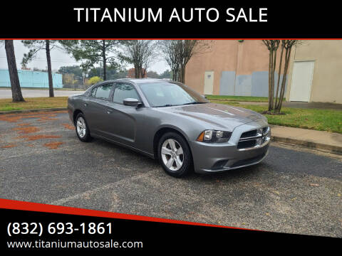 2012 Dodge Charger for sale at TITANIUM AUTO SALE in Houston TX