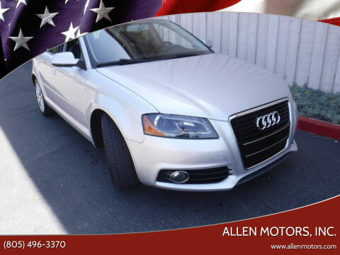 2012 Audi A3 for sale at Allen Motors, Inc. in Thousand Oaks CA