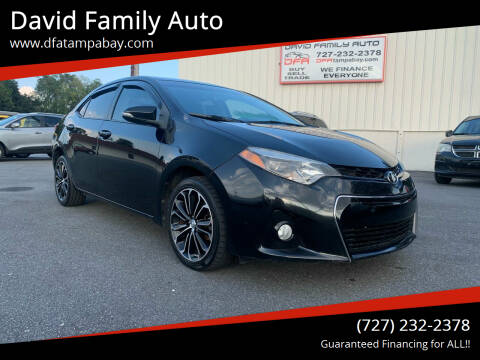 2014 Toyota Corolla for sale at David Family Auto in New Port Richey FL