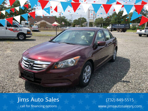 2011 Honda Accord for sale at Jims Auto Sales in Lakehurst NJ
