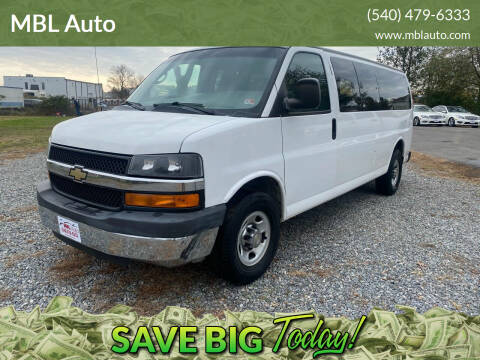 2014 Chevrolet Express Passenger for sale at MBL Auto in Fredericksburg VA