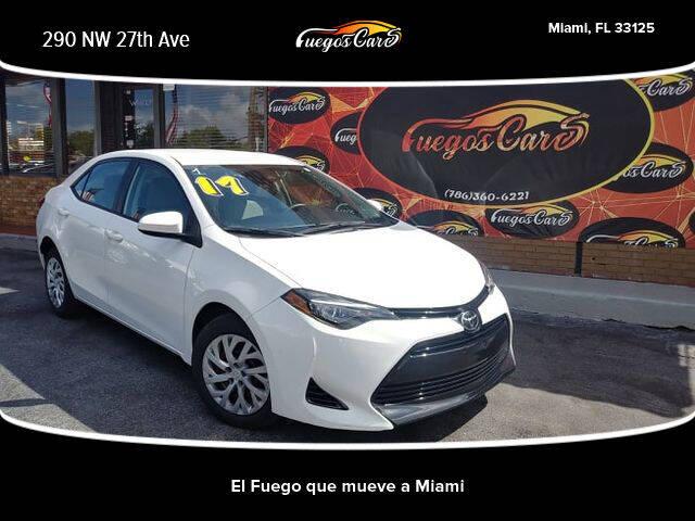 2017 Toyota Corolla for sale at Fuego's Cars in Miami FL