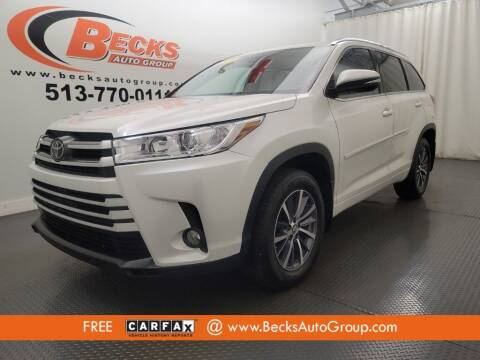 2018 Toyota Highlander for sale at Becks Auto Group in Mason OH