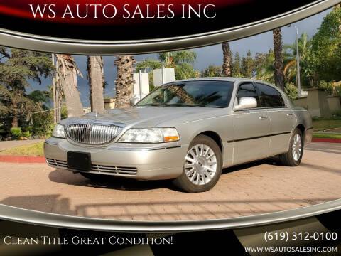 2003 Lincoln Town Car for sale at WS AUTO SALES INC in El Cajon CA