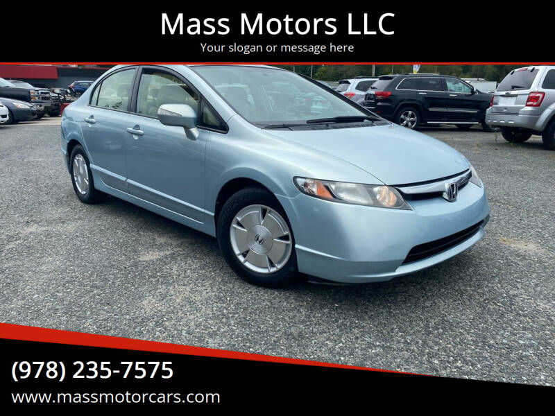 2007 Honda Civic for sale at Mass Motors LLC in Worcester MA