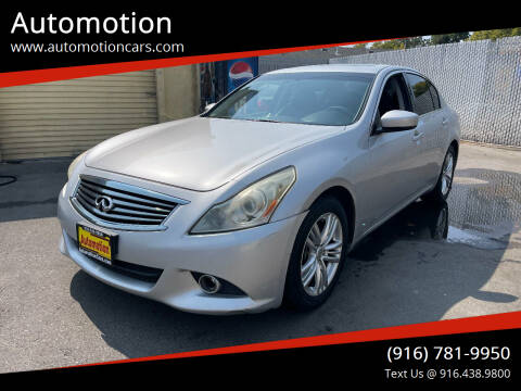 2011 Infiniti G37 Sedan for sale at Automotion in Roseville CA