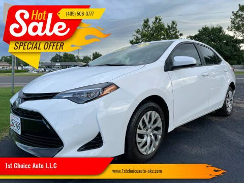 2018 Toyota Corolla for sale at 1st Choice Auto L.L.C in Oklahoma City OK