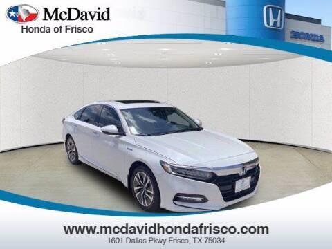 2019 Honda Accord Hybrid for sale at DAVID McDAVID HONDA OF IRVING in Irving TX