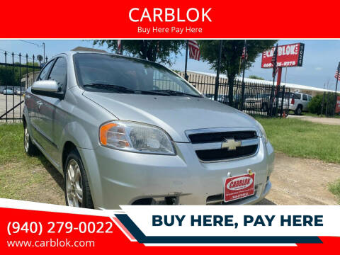 2011 Chevrolet Aveo for sale at CARBLOK in Lewisville TX