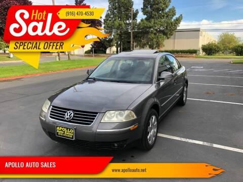 2005 Volkswagen Passat for sale at APOLLO AUTO SALES in Sacramento CA