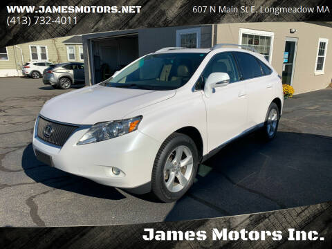 2011 Lexus RX 350 for sale at James Motors Inc. in East Longmeadow MA