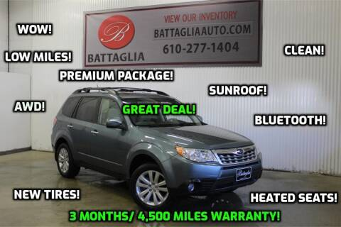 2013 Subaru Forester for sale at Battaglia Auto Sales in Plymouth Meeting PA